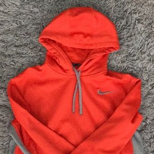 Orange Therma Fit Nike Hoodie Size Medium